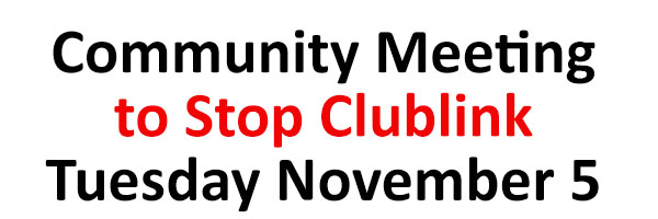 Community meeting to stop Clublink